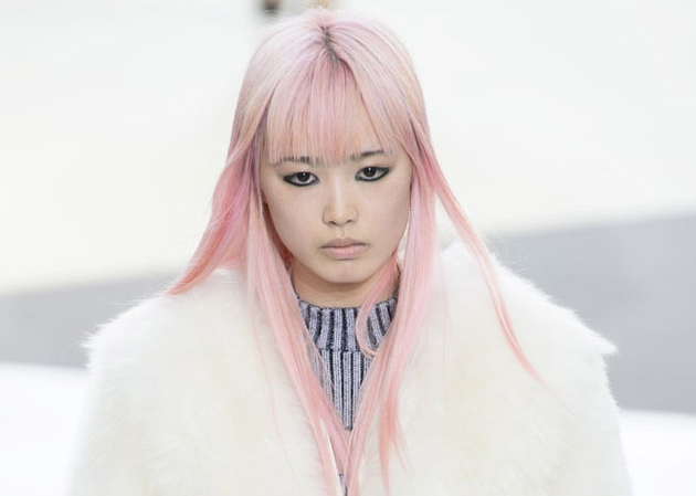 Pink Hair Fall 2015 Louis Vuitton