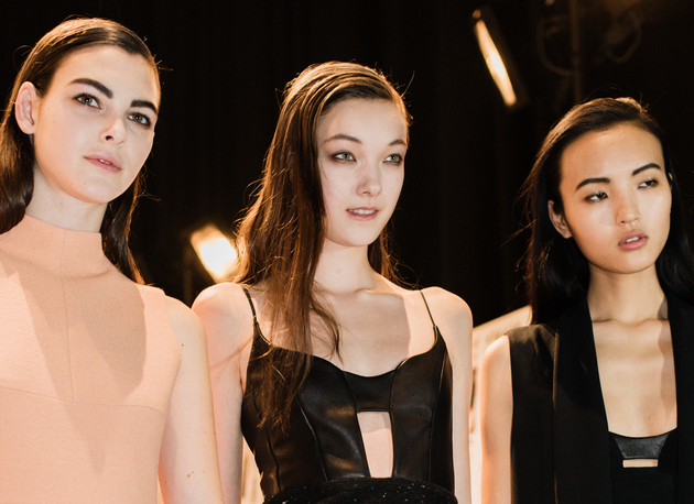 Slicked Side Parts Fall 2015 Narciso Rodriguez
