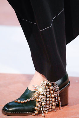 Embellished Shoes Fall 2015 Celine