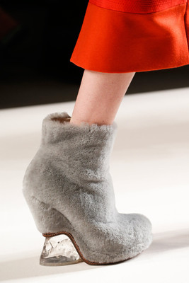 Fur Boots Fendi Fall 2015 Trends