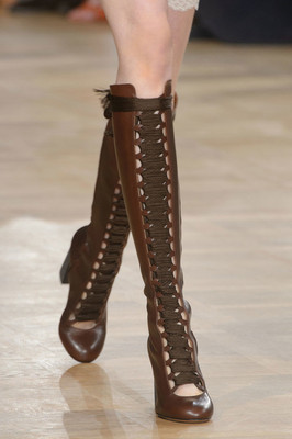 Laced Tall Boots Fall 2015