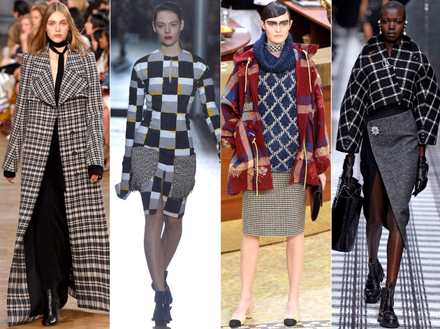 Plaid Checkers Fall 2015 Trends Paris Fashion Week
