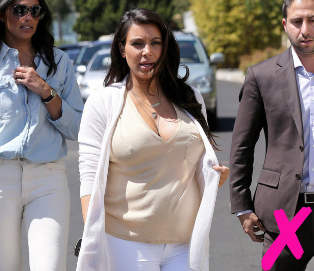 Kim Kardashian Braless Look Fail