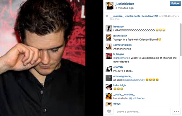 Justin Bieber Orlando Bloom Brawl