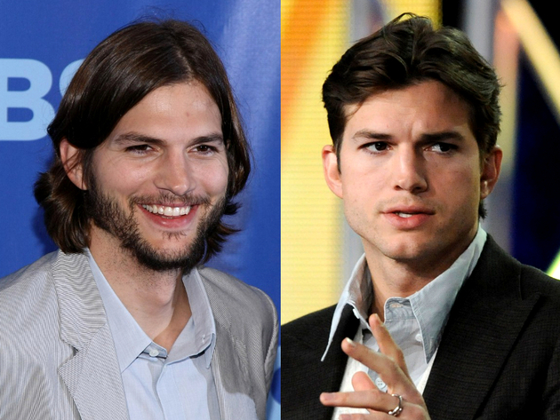 Ashton Kutcher Long Hair And Short