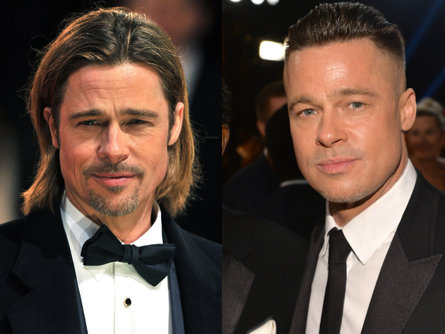 Brad Pitt Long Hair And Short Hair