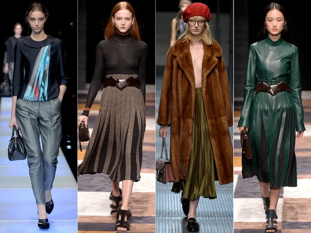 Pleats Fall 2015 Trends Milan Fashion Week