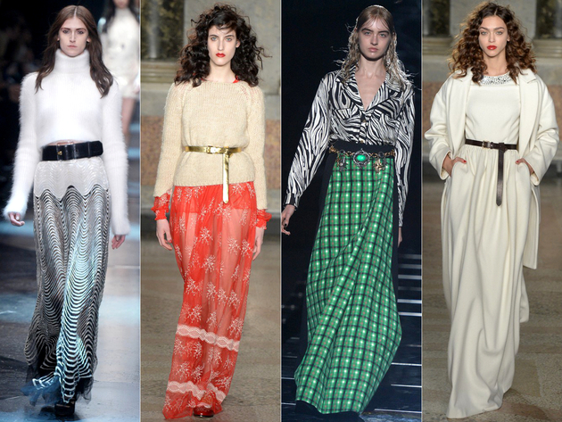Floor Length Skirts Fall 2015 Trends Milan Fashion Week
