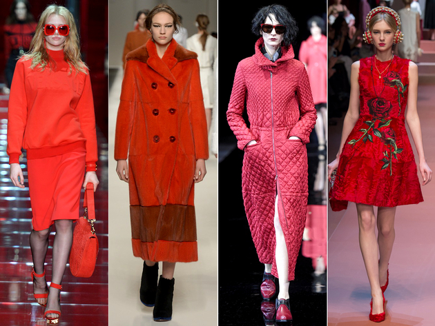 Shades Of Red Fall 2015 Trends Milan Fashion Week