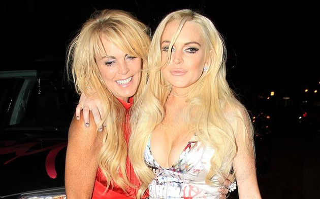 Lindsay Lohan And Mother Dina