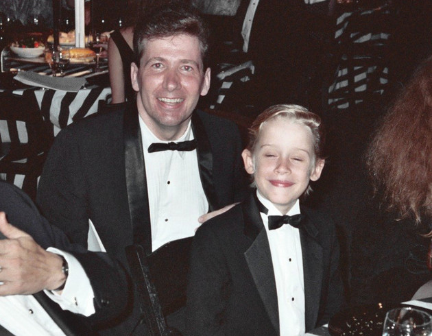 Macaulay Culkin With Estranged Father