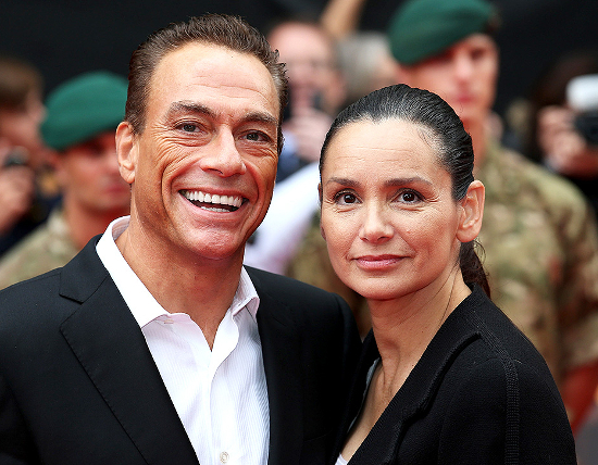 Jean Claude Van Damme And Gladys Portugues