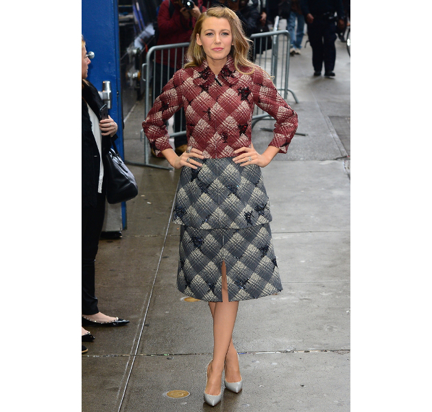 Blake Lively Tweed Outfit