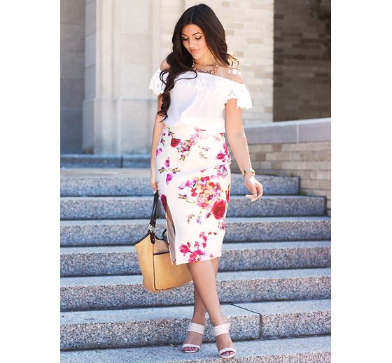 Midi Skirt Outfit For Petites
