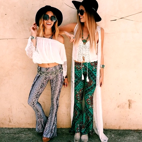 Seventies Trends Music Festival Fashion