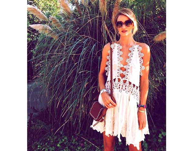 White Lace Dress Coachella 2015