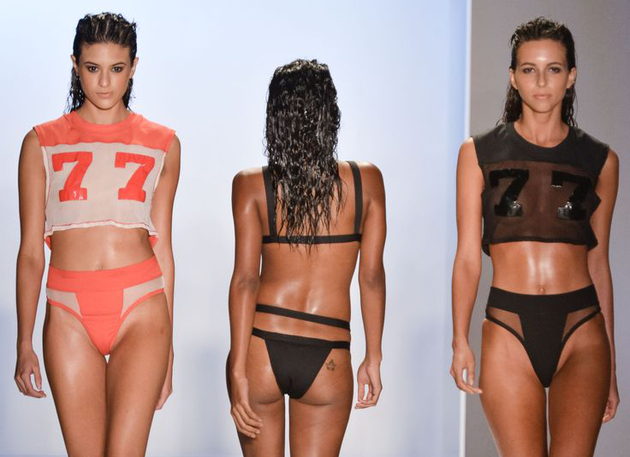Sheer Panelling Swimwear Trends 2015