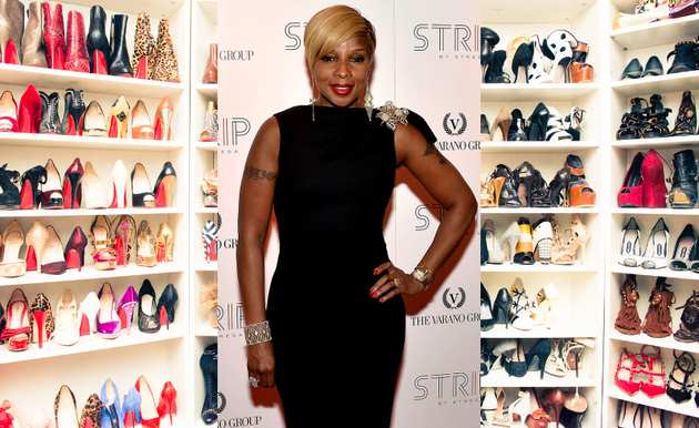 Mary J Blige Big Shoe Collection