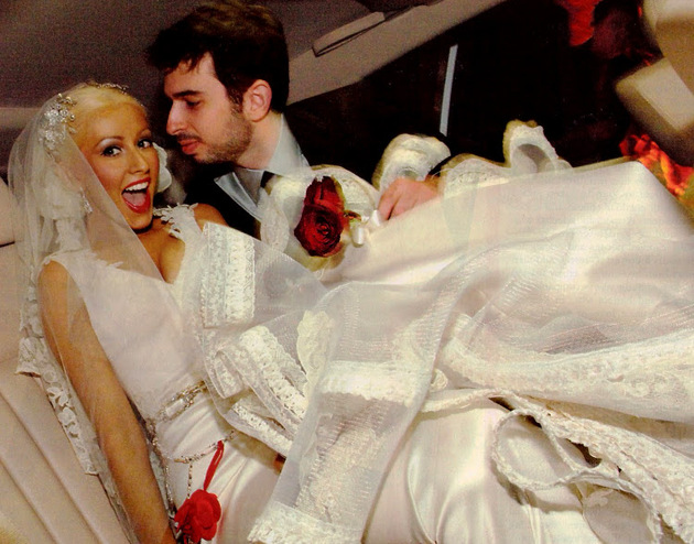 Christina Aguilera And Jordan Bratman Wedding