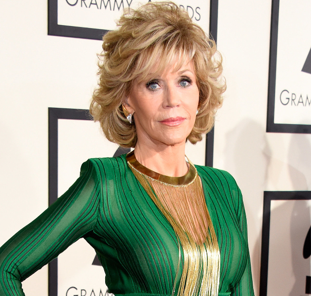 Jane Fonda Drinking Water