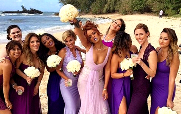 Rihanna Bridesmaid 2015
