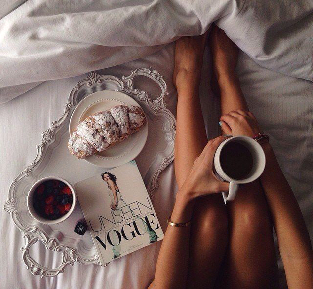 Morning Coffee In Bed