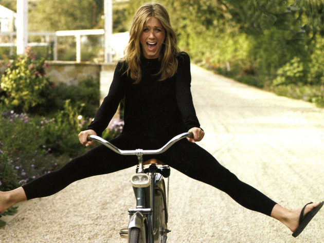 Jennifer Aniston Bicycle