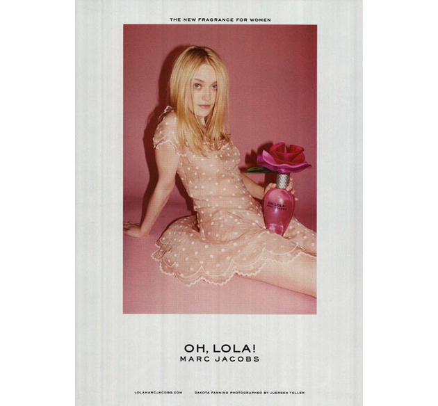 Dakota Fanning For Mark Jacobs Banned Ads