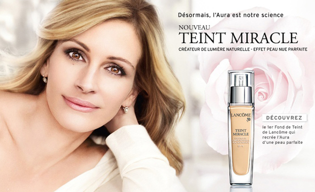 Julia Roberts For Lancome Banned Ads