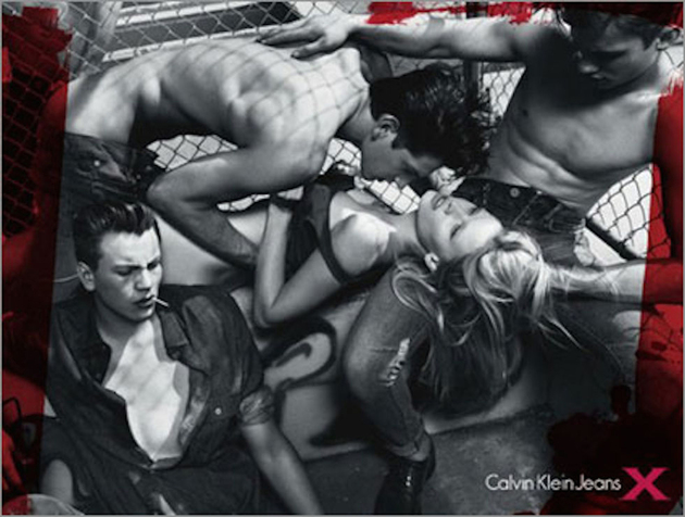Lara Stone For Calvin Klein Banned Ads