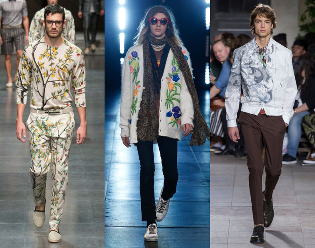 Mens Fashion 2016 Botanical Prints