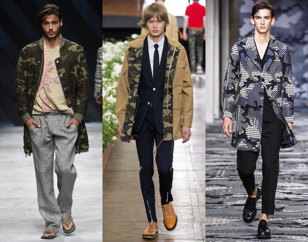 Mens Fashion 2016 Military
