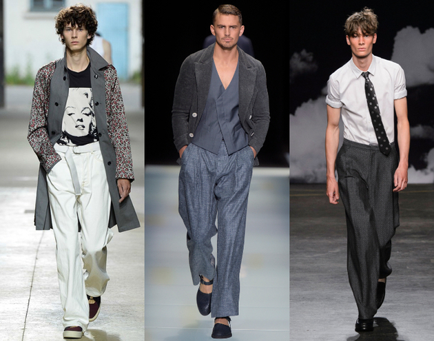 Mens Fashion 2016 Wide Leg Pants