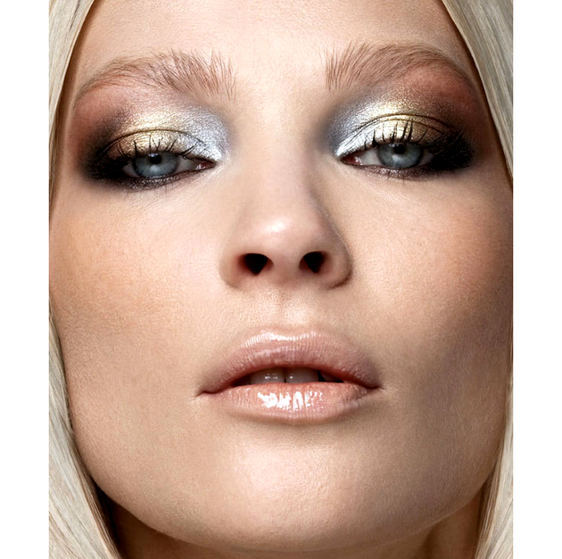 Metallic Gold Ans Silver Eye Makeup