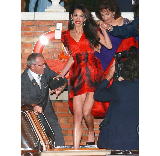 Amal Clooney The Rehearsal Dinner