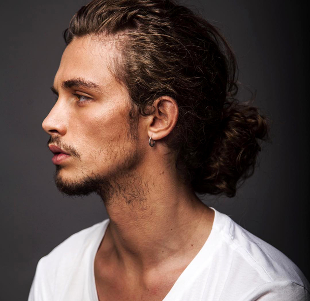 Curly Man Bun