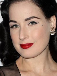 Dita Von Teese Best Celebrity Eyebrows