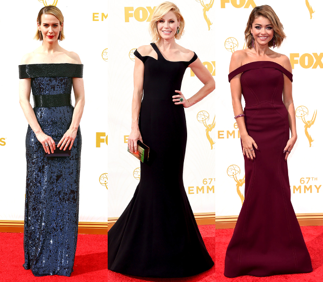 Off The Shoulder Dresses 2015 Emmy Awards