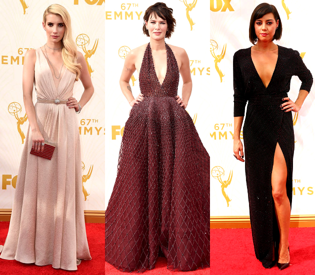 Plunging Necklines 2015 Emmy Awards