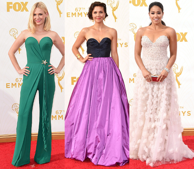 Sweetheart Neckline Dresses 2015 Emmy Awards