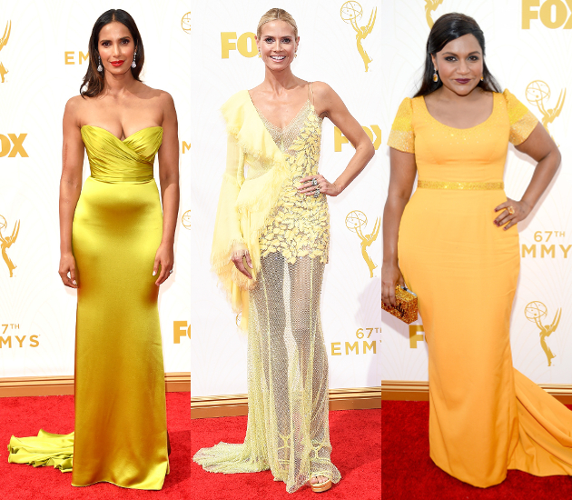 Yellow Dresses 2015 Emmy Awards