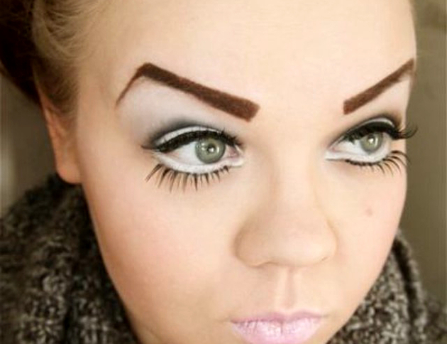 Ugly Eyebrows Worst Makeup Trends