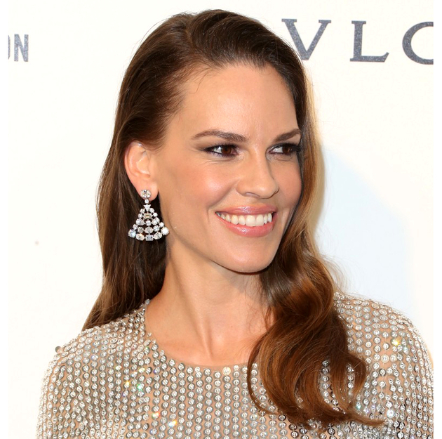 Oscars 2016 Party Hairstyles Hilary Swank