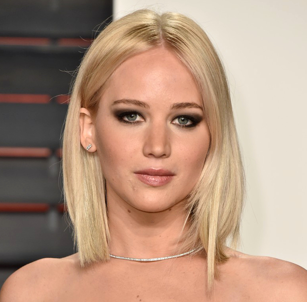 Oscars 2016 Party Hairstyles Jennifer Lawrence