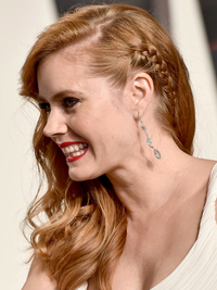 Oscars 2016 Party Hairstyles Amy Adams Braid