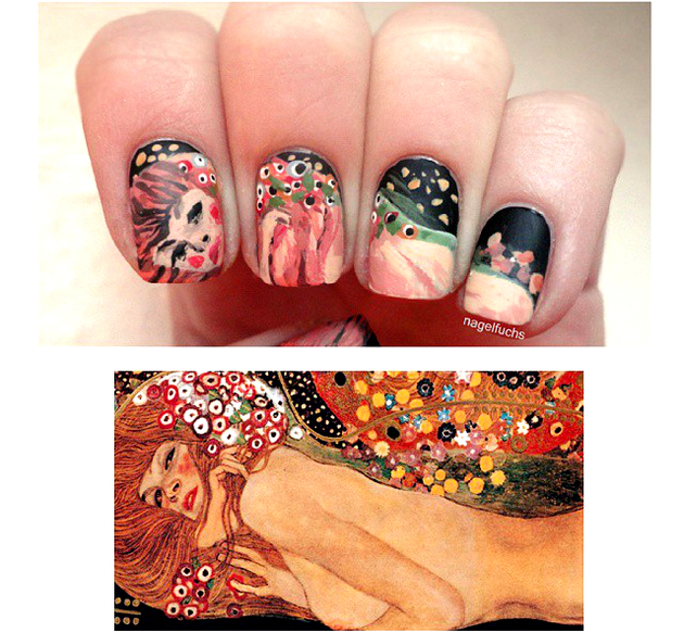 Klimt Classical Art Nails