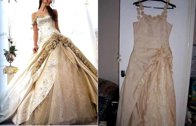 Knockoff Gown Shopping Fail
