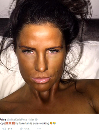 Katie Price Fake Tan Fail