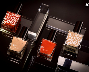 "KFC launches edible, lickable nail polishes that taste just chicken and it's as ""Finger Lickin' Good"" as their other fried chicken  products."