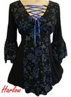 stunning gothic wiccan plus size corset top 1x 16/18